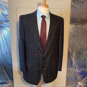Burberrys' Wool Sport Jacket. Herringbone. 42R